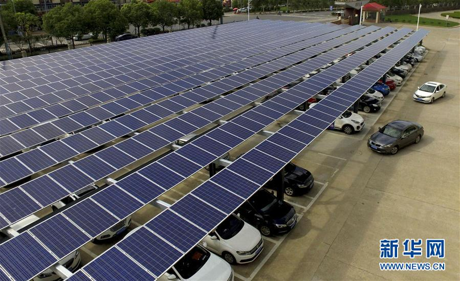 太陽光発電駐車場が安徽省に登場