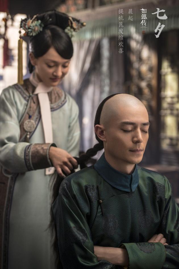 「如懿伝」が七夕をイメージした写真公開 周迅が霍建華の髪を結ぶ