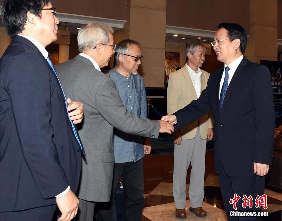 譚天星副室長、北京で日本華人教授会訪中団と対面