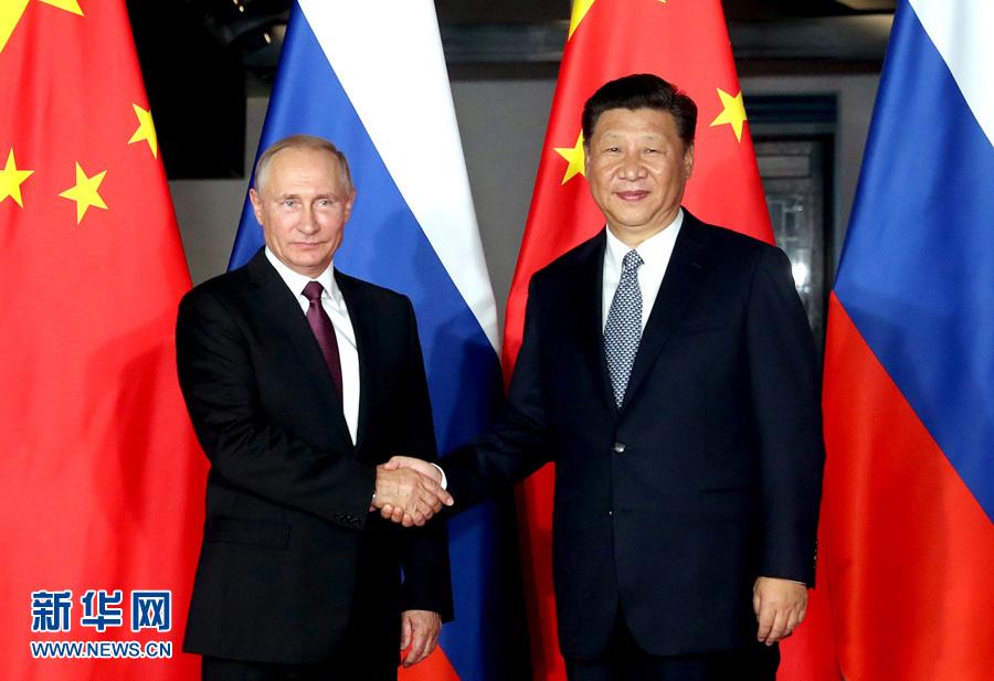 中露首脳会談 BRICS協力の推進に全力