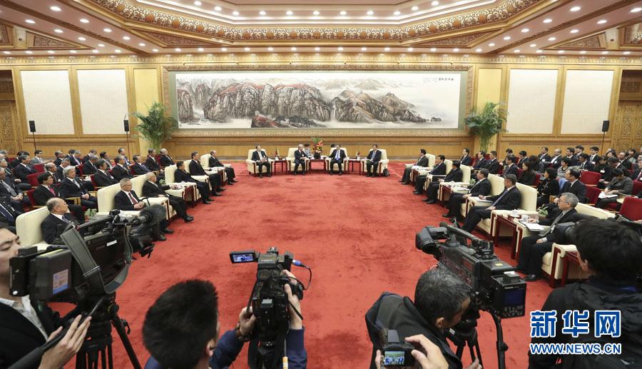 李克強総理が日本経済界代表団と会談