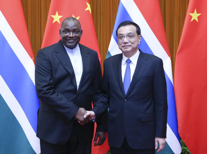李克強総理がガンビア大統領と会談