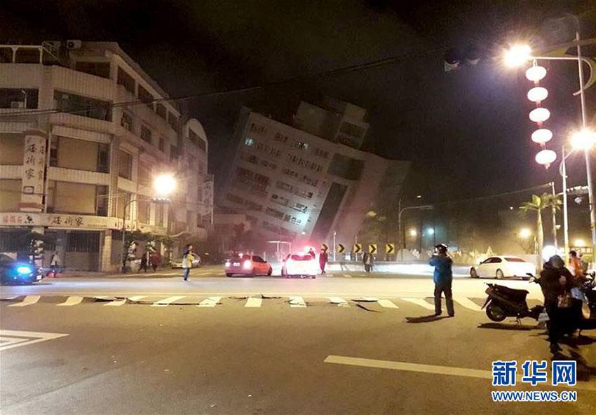 台湾地区東部の花蓮県でM6.5の地震