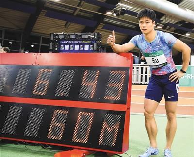 世界室内陸上競技男子60メートル競走で蘇炳添選手がアジア新記録