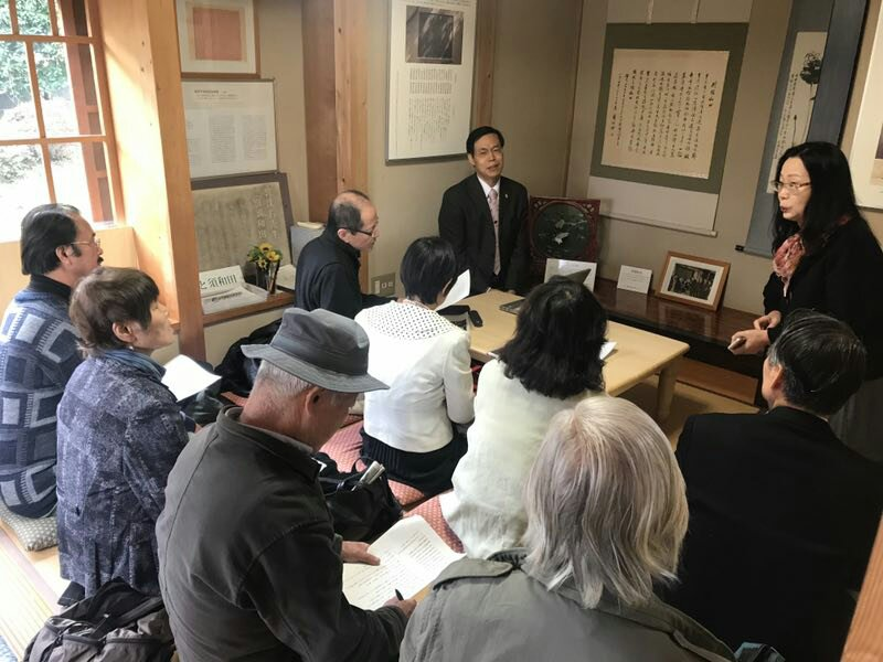 日本郭沫若文化研学会は千葉県市川市にある郭沬若の旧居で講演会を開催