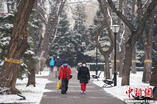 北京で春節明け初の雪