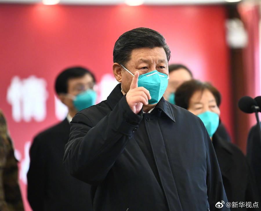 習近平総書記が武漢入りし、新型肺炎予防・抑制状況を視察