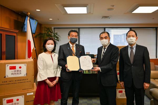 中国政府が日本に二回目となる防疫物資支援