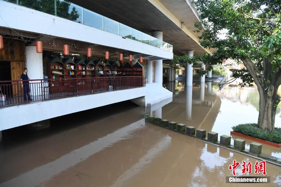 嘉陵江で発生した今年第1号の洪水が重慶中心区間を無事通過